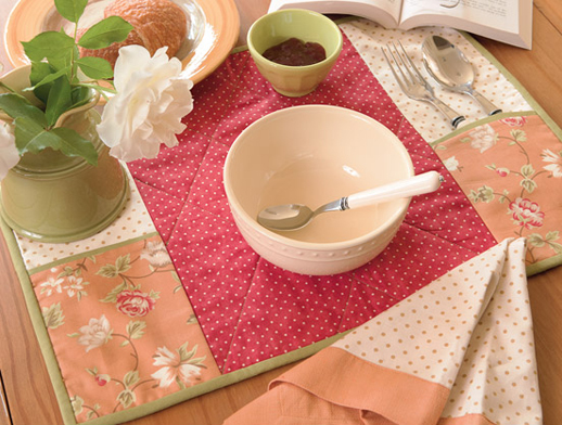 a summer setting placemats and napkins
