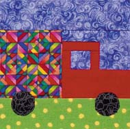 paper-pieced truck from 300 Paper-Pieced Quilt Blocks