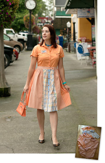 diner dress from resew