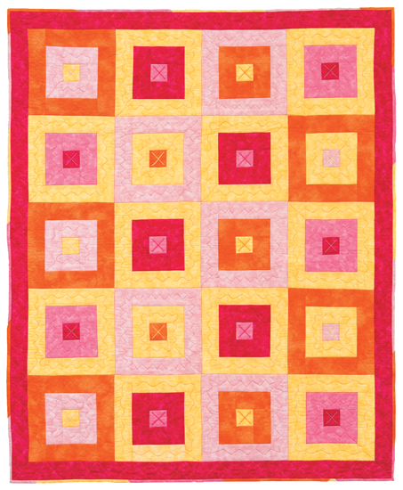 little log cabin baby quilt