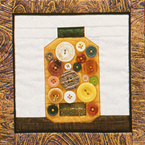 paper pieced quilt block--button jar