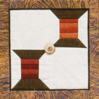 paper pieced quilt block--spools