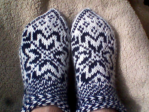Norwegian Star Slippers From Knitting Scandinavian Slippers And