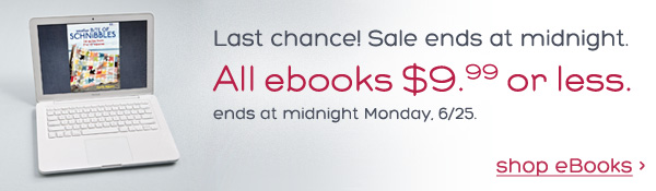 Last chance! eBook sale ends tonight