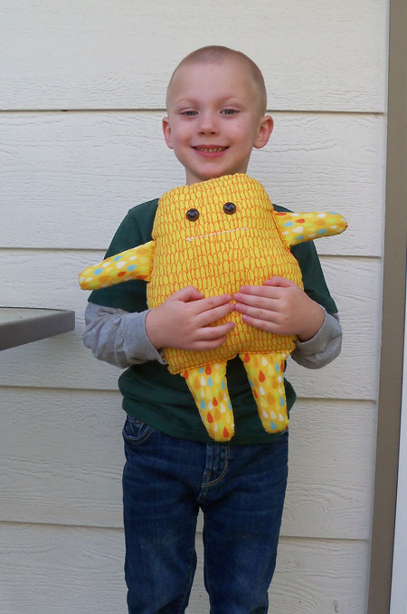 nephew with stuffed monster