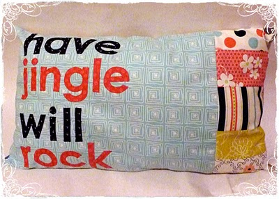 Have Jingle Will Rock pillow