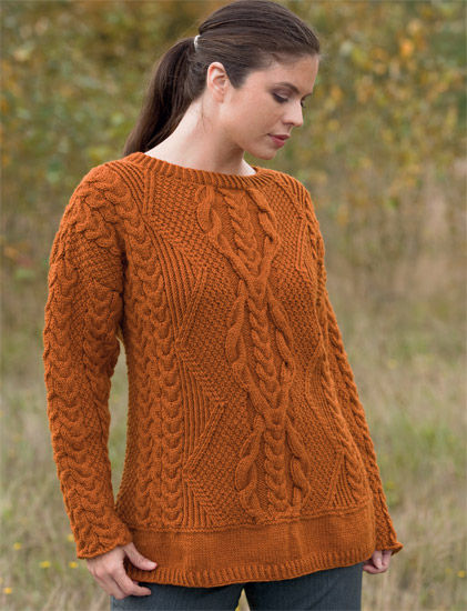 cable sweater from Cable Confidence 1