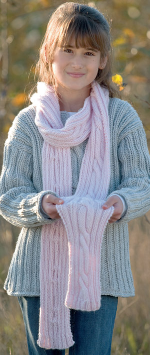 knitted cable scarf