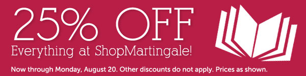 25% off everything at ShopMartingale