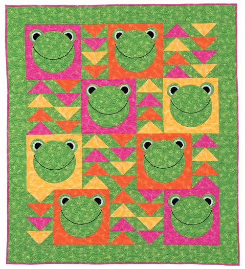8 Flying Frogs from The Little Box of Baby Quilts