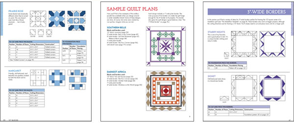 Sample pages from Blocks, Borders, Quilts