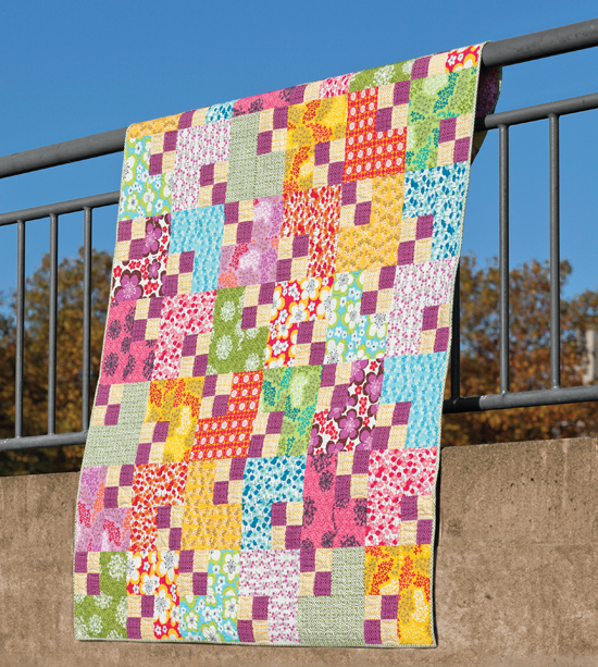 Four Patch Shift quilt from Skip the Borders