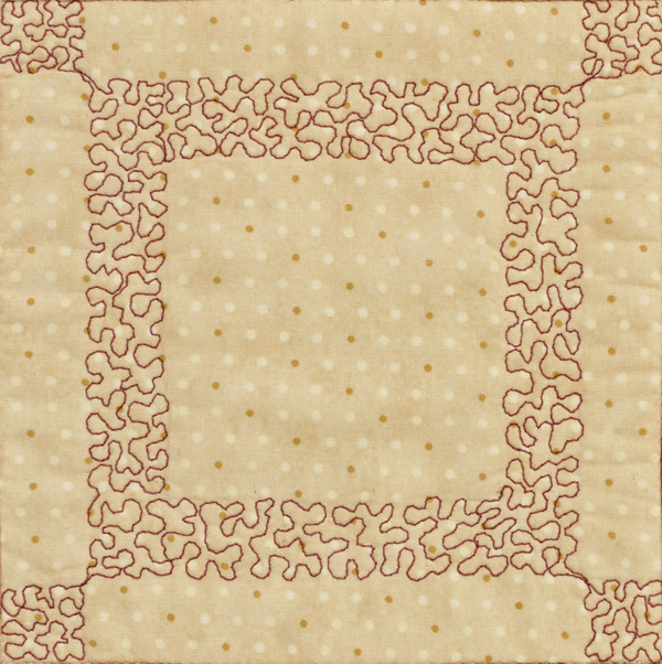 Inside border frame from Easy and Fun Free-Motion Quilting
