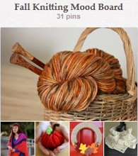 Pinterest--fall knitting mood board