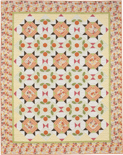 Orange Marmalade quilt from Fast Fusible Flower Quilts