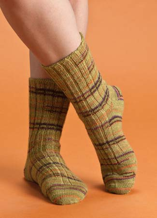 From Terrific Toe-Up Socks