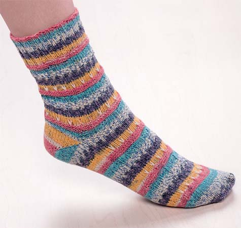 From Toe-Up Techniques for Hand-Knit Socks
