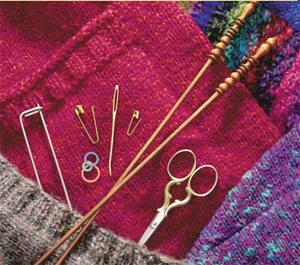Tools for finishing knitting
