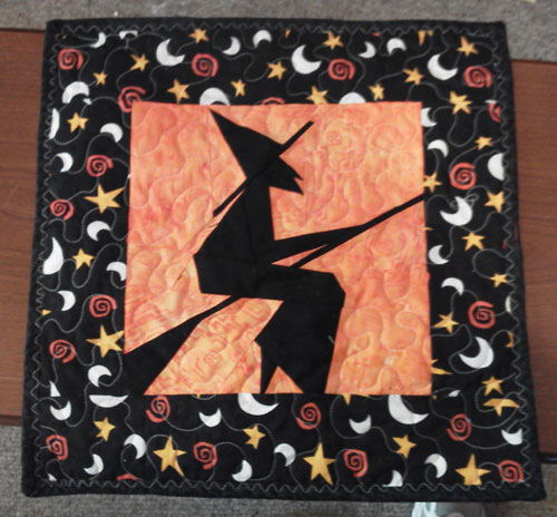 Beth's winning Witch quilt!