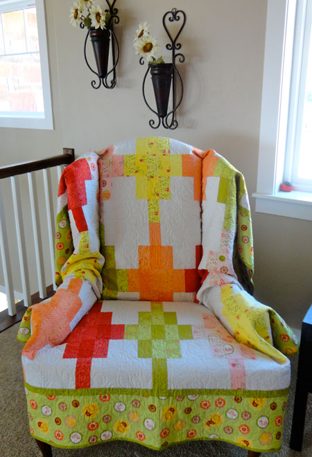 Home Sweet Quilt--chair quilt 2