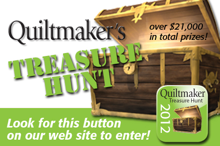 We're a Quiltmaker Treasure Hunt sponsor!