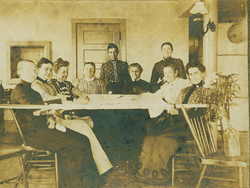 Quilting Circle in the 1860s