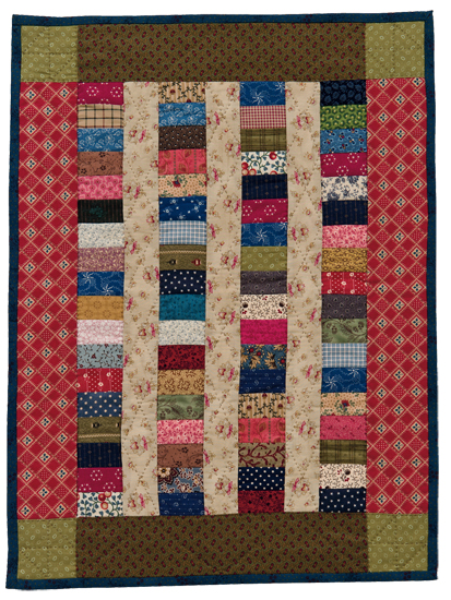 Charming Coins Doll Quilt from Remembering Adelia