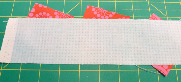 Sewn candy strip