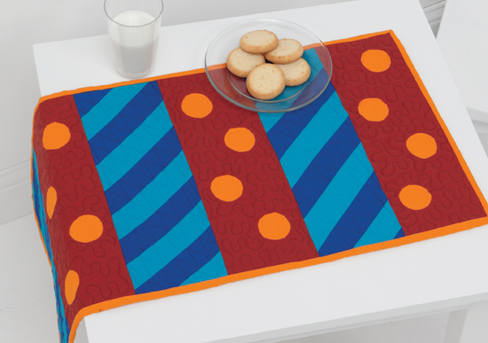 Spirals and Spots table runner