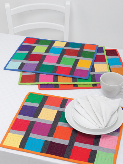 Woven Patchwork place mats