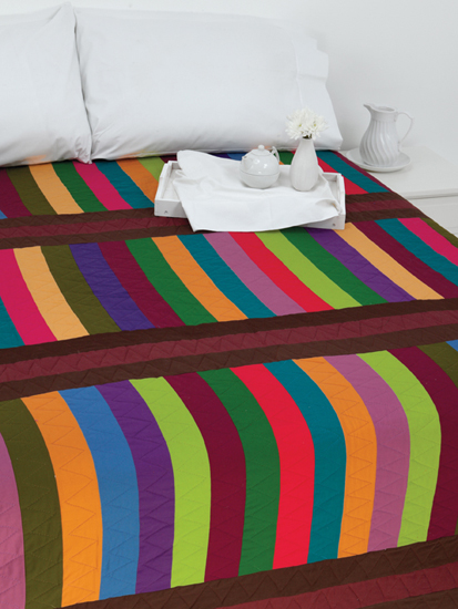 Stacked Stripes quilt