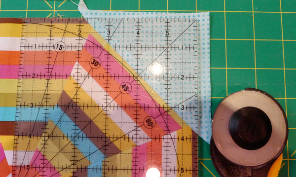 Press and trim triangles