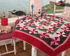 Peppermint Patties lap quilt