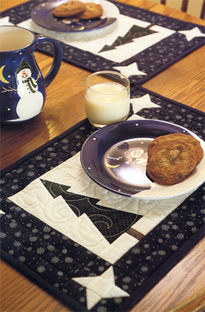 Winterscape place mats