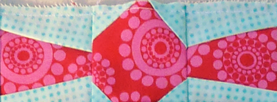 Wrapped-candy block close-up