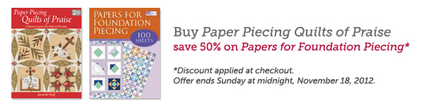 Paper Piecing Quilts of Praise promo