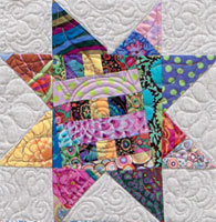 pieced center star block