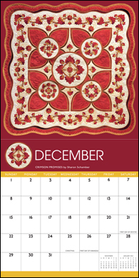 Award Winning Quilts calendar--December