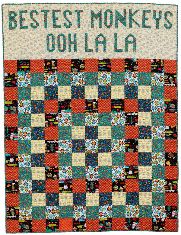 Bestest Monkeys Ooh La La! quilt