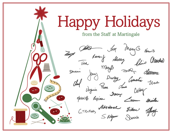 Happy holidays from the staff at Martingale