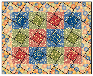 Illustrated example--cutting squares from squares
