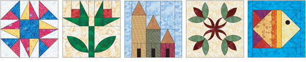 Quilt blocks from the Quilter's Block-a-Day Calendar