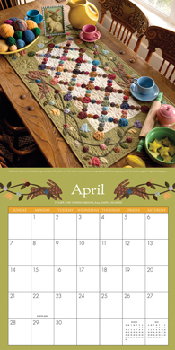 Simply Beautiful Quitls 2013 Calendar--April