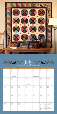 Simply Beautiful Quilts 2013 Calendar--July
