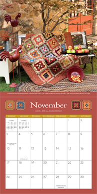 Simply Beautiful Quilts 2013 Calendar--November