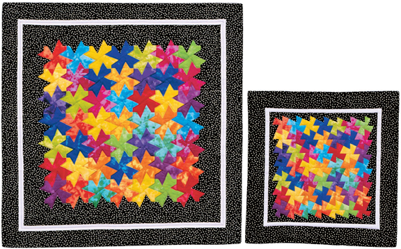 Tessellating Blossoms quilts