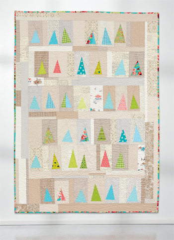 Tree quilt from Modern Quilts from the Blogging Universe