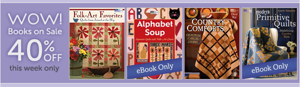Wow! Select books 40% off this week only