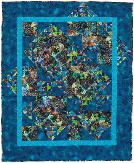 Easy Quilt Patterns For Large Print Fabrics Stitch This