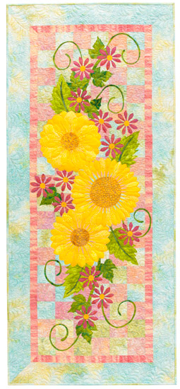 Summer Floral Table Runner from Flower Show Quilts